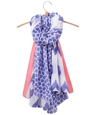 Women's Joules Harmony Scarf - Pool Blue Ikat