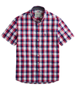 Men's Joules Wilson Shirt - Deep Raspberry Gingham