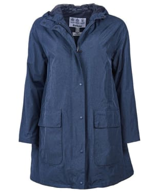 Women's Barbour Long Length Hooded Bedale Waterproof Jacket - Navy Marl