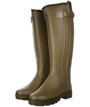 Women's Le Chameau Chasseur Neoprene Lined Wellington Boots - Green