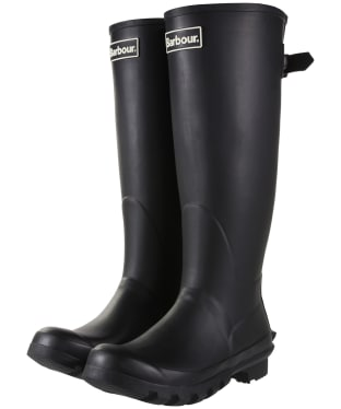 Women's Barbour Jarrow Back Adjustable Wellingtons - Black
