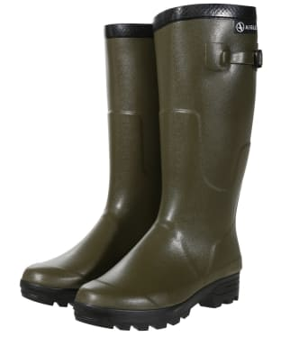 Aigle Benyl Iso Wellington Boots - 41cm - Khaki