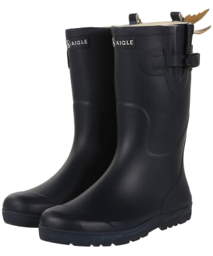 Aigle Kids Woodypop Wellington Boots - Marine