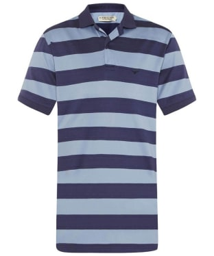 Men's R.M. Williams Rod Striped Polo Shirt - Blue / Navy