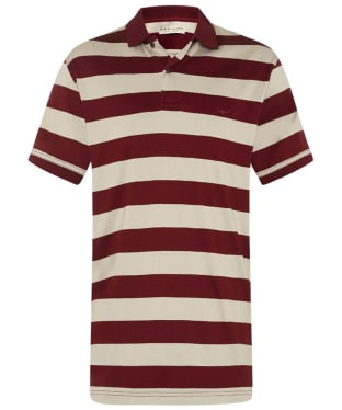Men's R.M. Williams Rod Striped Polo Shirt - Red / Bone