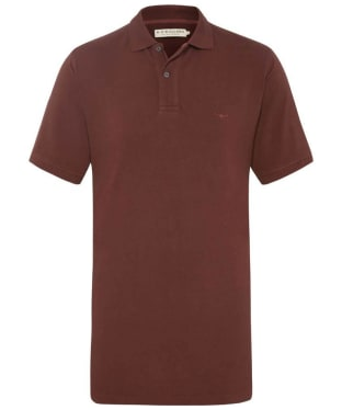 Men's R.M. Williams Rod Polo Shirt - Burgundy