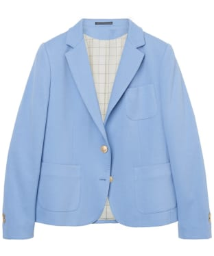 Women's GANT Jersey Pique Stretch Blazer - Lavender Blue