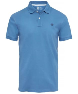 Men's Timberland Millers River Pique Regular Fit Polo Shirt - True Blue