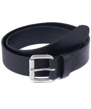 Barbour Matt Leather Belt - Matt Black