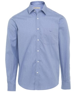 Men's R.M. Williams Collins Cotton Poplin Shirt - Blue / White