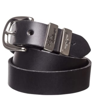 "Men's R.M. Williams 1 1/4"" 3 Piece Solid Hide Belt - Black"