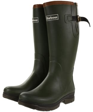 Men's Barbour Tempest Neoprene Wellingtons - Olive