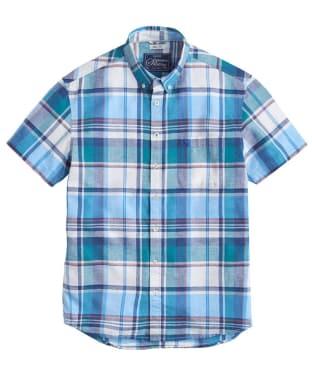 Men's Joules Wilson Linen Shirt - Turquoise Check