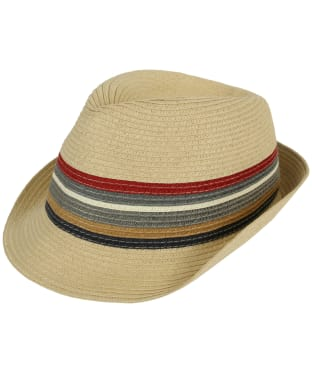 Men's Barbour Tain Stripe Trilby Hat - Natural