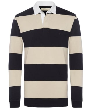 Men's R.M. Williams Tweedale Rugby Shirt - Navy / Bone