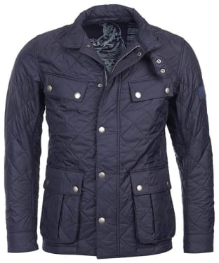 Men's Barbour International Ariel Quilted Jacket - Navy