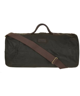 Barbour Waxed Cotton Holdall Bag - Olive