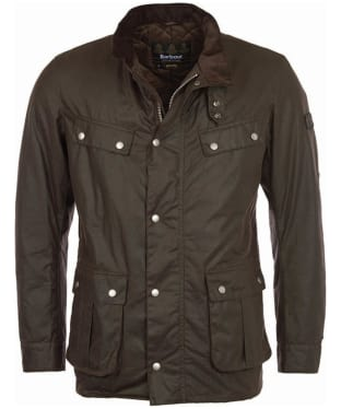 Men's Barbour International Duke Wax Jacket - Bark