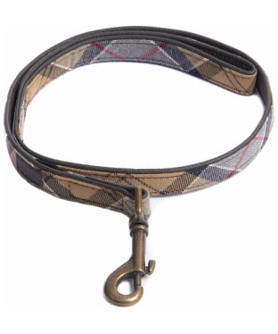 Barbour Tartan and Leather Dog Lead - Dress Tartan