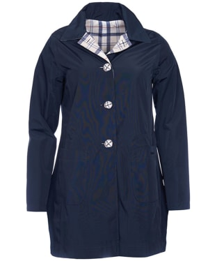 Women's Barbour Waterproof Reversible Derby Mac Jacket - Navy / Summer