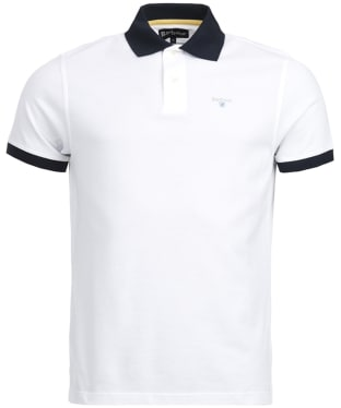 Men's Barbour Lynton Polo - White