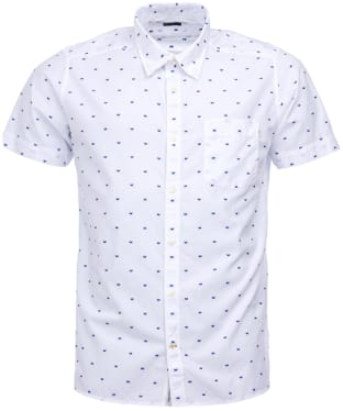 Men's Barbour Crab Short Sleeved Shirt - White