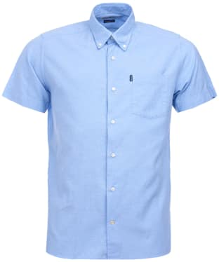 Men's Barbour Oxford 5 S/S Tailored Shirt - Blue