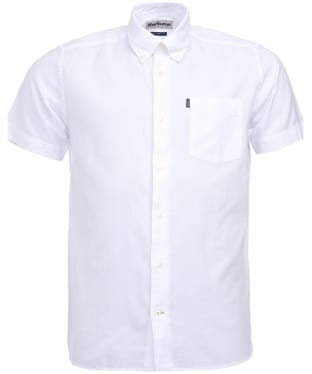 Men's Barbour Oxford 5 S/S Tailored Shirt - White
