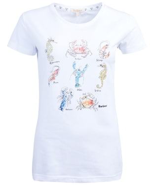 Women's Barbour Shellhaven Tee - White