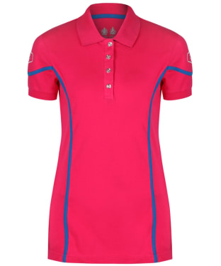 Women's Musto Team Polo Shirt - Bright Rose
