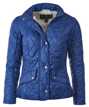Women's Barbour Flyweight Cavalry Quilted Jacket - Indigo