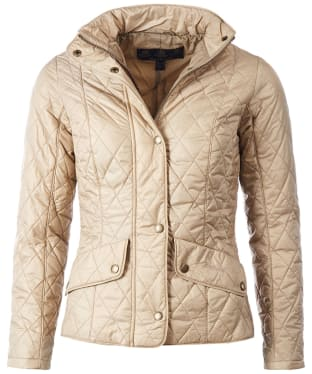 Women's Barbour Flyweight Cavalry Quilted Jacket - Dark Stone
