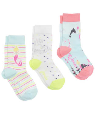 Girl's Joules Brill Bamboo Socks 3-Pack