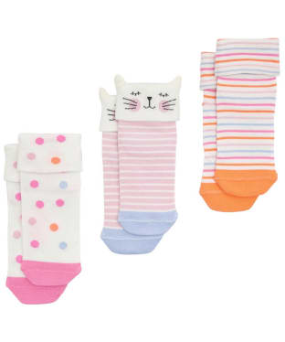 Girl's Joules Shorty Socks 3-Pack