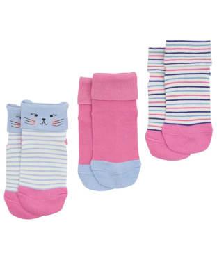 Girl's Joules Shorty Socks 3-Pack