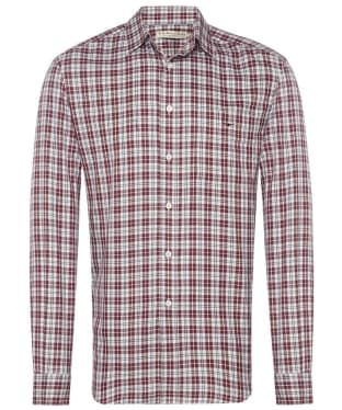 Men's R.M. Williams Collins Shirt - White / Red / Navy