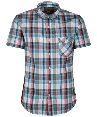 Men's Timberland Still River Plaid Shirt with CoolMax® Fabric - Spiced Coral