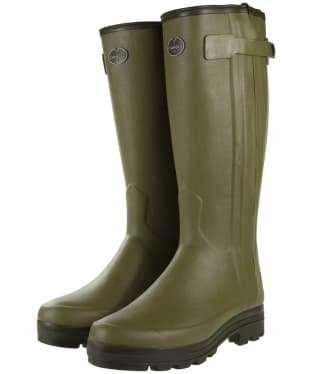 Men's Le Chameau Chasseur Neoprene Lined Wellington Boots - 41cm calf - Green