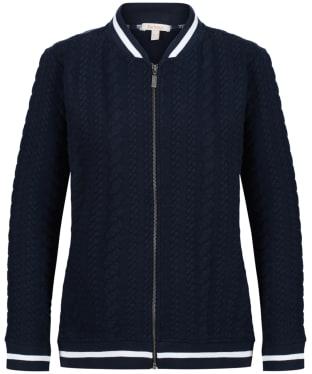 Women's Barbour Kelsey Sweatshirt Jacket - French Navy