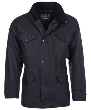 Men's Barbour Sapper Waxed Jacket - Black