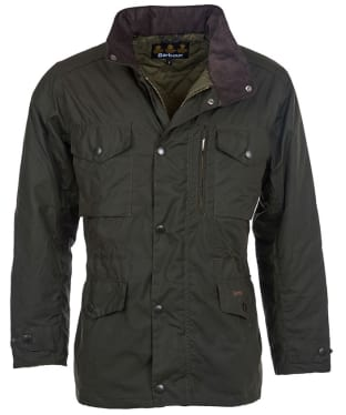 Men's Barbour Sapper Waxed Jacket - Olive