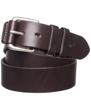 "Men's R.M. Williams 1 1/2"" Covered Buckle Belt - Chestnut"