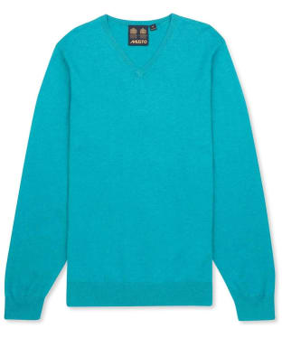 Men's Musto Lightweight Merino V-neck Sweater - Viridian Marl