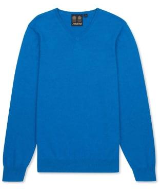 Men's Musto Lightweight Merino V-neck Sweater - Atlantic Marl