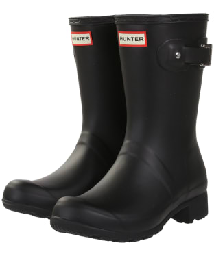 Women's Hunter Original Tour Short Wellington Boots - Black