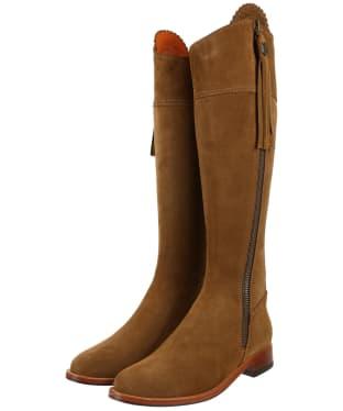 Women's Fairfax & Favor Flat Regina Boots - Tan Suede