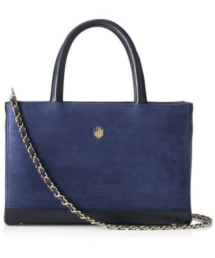 Women's Fairfax & Favor Pembroke Handbag - Navy Blue Leather