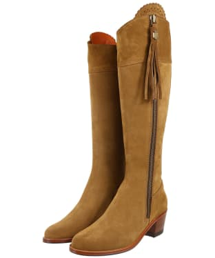 Women's Fairfax & Favor Heeled Regina Boots - Tan Suede