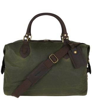 Barbour Archive Waxed Cotton Travel Explorer Bag - Archive Antique Olive