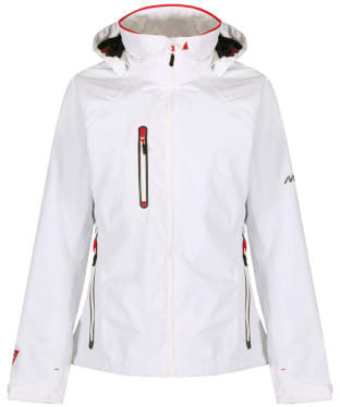 Women's Musto Sardinia BR1 Waterproof Jacket - White / True Red